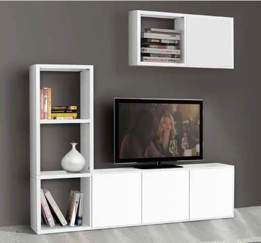 Porta tv legno bianco frassinato